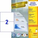 Avery zweckform Uniwersalne etykiety samoprzylepne, 210 x 148mm, białe, do drukarki, 200 sztuk