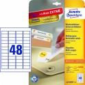 Avery zweckform Usuwalne etykiety uniwersalne, 45,7 x 21,2mm, białe, do drukarki,1440 sztuk