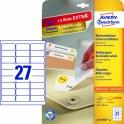 Avery zweckform Usuwalne etykiety uniwersalne, 63,5 x 29,6mm, białe, do drukarki,810 sztuk