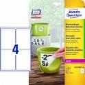 Avery zweckform Usuwalne etykiety wodoodporne Heavy Duty, 99,1 x 139mm, białe    do drukarki, 80 sztuk