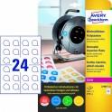 Avery zweckform Usuwalne etykiety inspekcyjne NoPeel, średnica 30mm, okrągłe, do drukarki, 240 sztuk