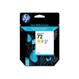 Tusz HP 72 Vivera do Designjet T610/1100/1200/1300 | 69ml | yellow