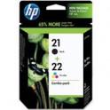 Zestaw dwóch tuszy HP 21 i 22 do Deskjet D2360/2460, F 325/380/2180 | CMY/K