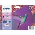 Zestaw tuszy  EpsonT0807Stylus R-265/285/360, RX-560/585 |44,4ml| C/LC/M/LM/Y/K