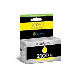 Tusz Lexmark 210XL do OE Pro 4000/5500   zwrotny   1500 str.   yellow  eol